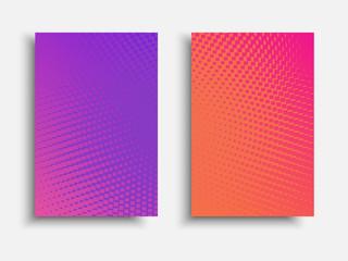 Vibrant gradient brochure