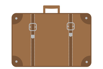 Suitcase - flat vector graphic with transparent background