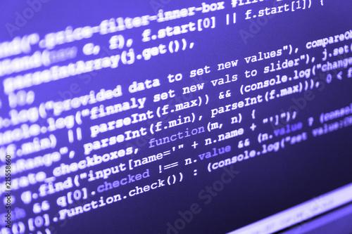 Website programming code  JavaScript code in text editor  WWW