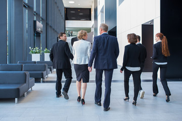 Business team walking together