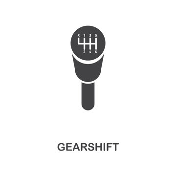 Gearshift creative icon. Simple element illustration. Gearshift concept symbol design from car parts collection. Can be used for web, mobile, web design, apps, software, print.