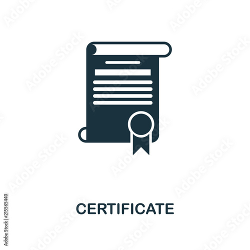 certificate creative icon simple element illustration certificate