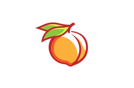 Peach Orange Logo Design Illustration