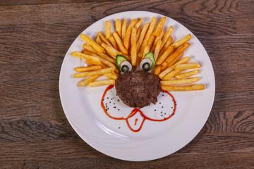 Kids menu - cutlet with potato