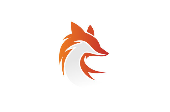 Creative Fox Head Logo Design Illustration
