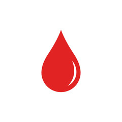 Blood drop. Vector. Isolated.