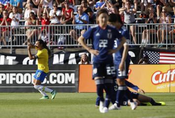 Soccer: Tournament of Nations Women's Soccer-Japan at Brazil