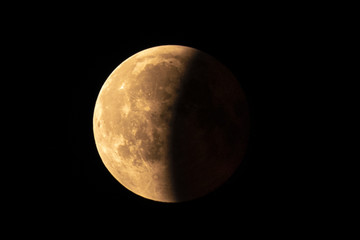 Moon partial eclipse in July 2018 -