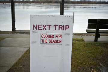 Water taxi station closed for the season