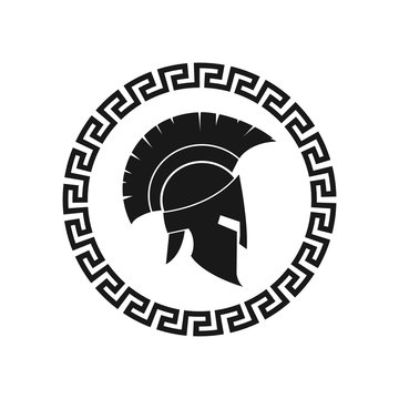Spartan helmet. Vector. Isolated.