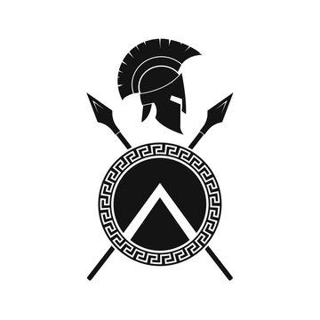 Spartan icon  illustration. Vector. Isoalted.