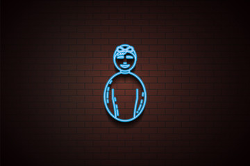 avatar swimmer icon in neon style. One of Avatars collection icon can be used for UI/UX