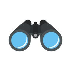Binocular. Flat design. Vector.