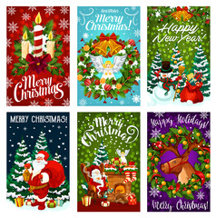 Christmas and New Year holiday greeting card