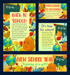 Back to school poster for greeting card design
