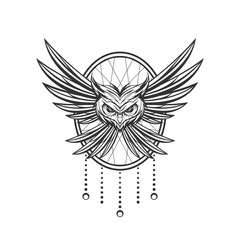 owl ornament tattoo design for tshirt apparel