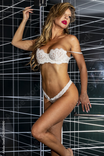 blonde lingeri
