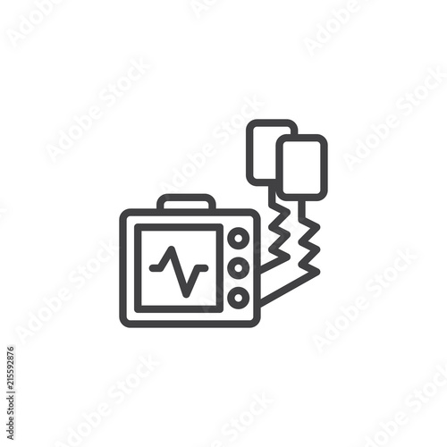 Defibrillator Machine Outline Icon Linear Style Sign For Mobile