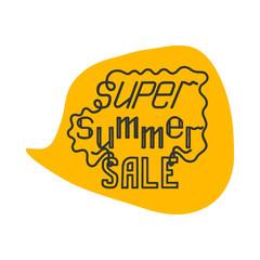 Super summer sale  hand lettering  illustration