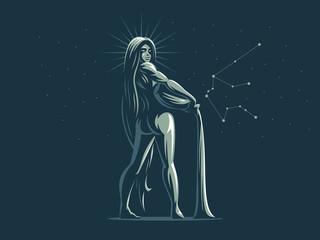 Sign of the zodiac Aquarius.