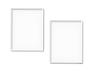White photo frames