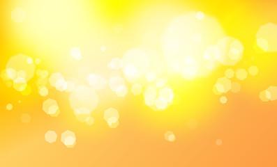 円、ボケ、丸、金色と黄色の背景   - fototapety na wymiar