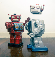 robot fight club concept