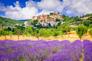 Simiane-la-Rotonde, Provence in France Wall mural