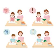 家庭教師の素材セット