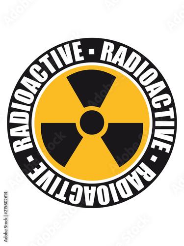 Rund Schwarz Stempel Gefahr Achtung Warnung Vorsicht Atombombe