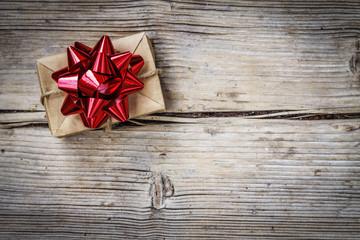 gift, christmas, box, bow, holiday, red, ribbon,