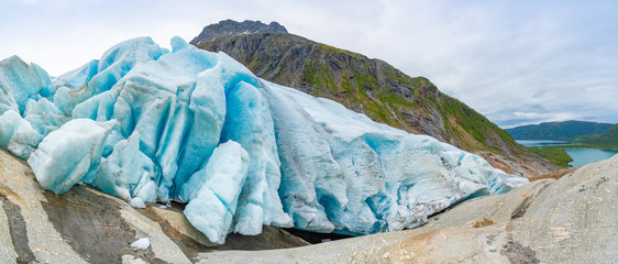 Part of Svartisen Glacier in Norway
