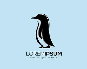stand penguin animal logo vector