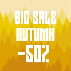 fifty percent discount, big autumn sale