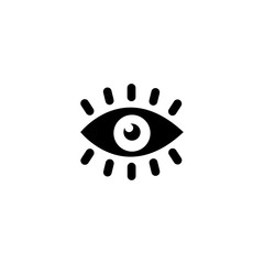 Eye Vision. Flat Vector Icon illustration. Simple black symbol on white background. Eye Vision sign design template for web and mobile UI element