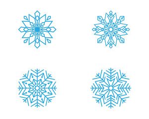 Snowflakes Style Design icons illustration