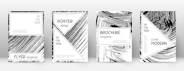 Cover page design template. Stylish brochure layout. Charming trendy abstract cover page. Soap inver