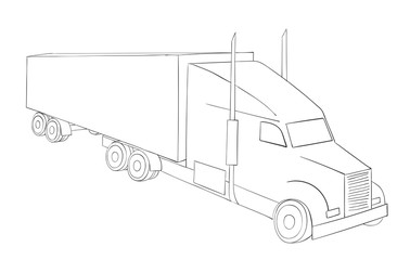 truck symbol logistics. International transport. Delivery trucking.