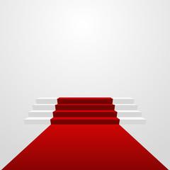 red carpet podium vector illustration eps 10