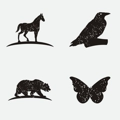 rustic wild animal logo