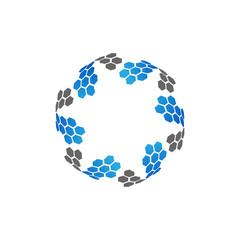 modern circle abstract technology logo