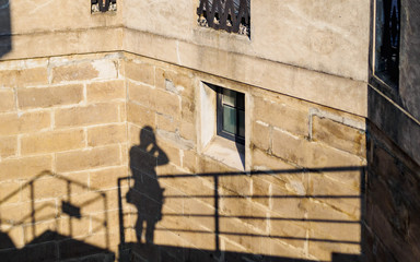 The shadows of Professional photographer