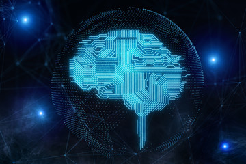 AI and cyberspace concept