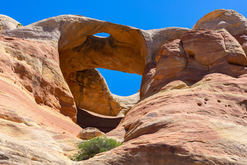 Bridge Arch at Rattlesnake Canyon in McInnis Canyons National Conservation Area, Colorado State, USA