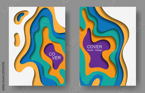 photograph regarding Paper Cutout Templates titled Vector paper slice patterns structure preset for shows