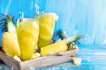 Pineapple juice background