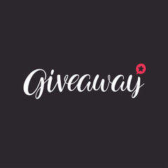 cute giveaway lettering