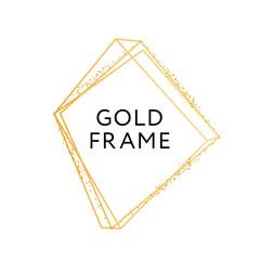 Gold Frame Geometric Shape Minimalism Vector Design Banner