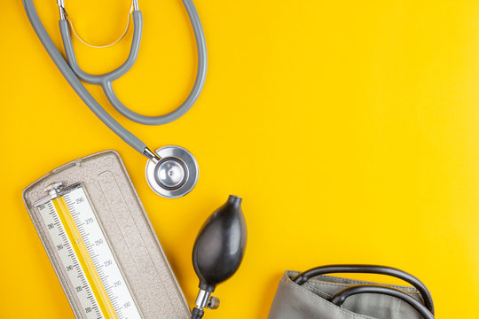stethoscope and blood pressure