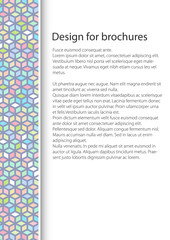 Cover Design with Seamless Pattern of Abstract Colorful Cube,  Booklet Poster  Flyer Brochure Design, A4 Sheet Size, Vector Illustration